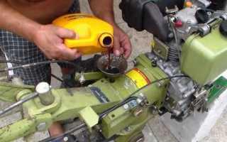 Через какое время менять масло в двигателе мотоблока