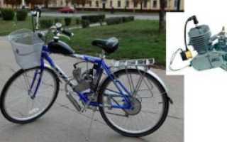Как установить двигатель от скутера на велосипед