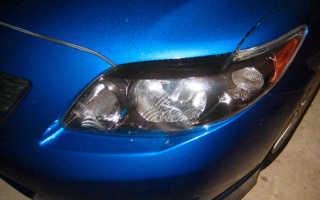 Замена лампочки подсветки номера Тойота Королла 150