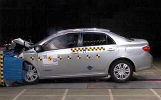 Краш тест Тойота Королла 2008