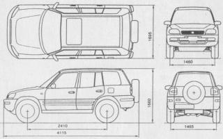 Тойота РАВ 4 2017 размеры кузова габариты