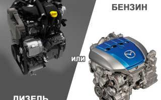 Что лучше в машине бензиновый или дизельный двигатель