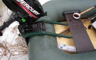 Как установить двигатель на лодку без транца