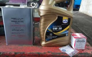 Масло для Toyota RAV 4
